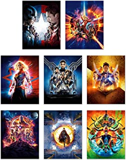Ultimate Marvel Avengers Poster Pack -Set of 8 (11 inches x 14 inches) Prints - Infinity War Prints - Captain Marvel