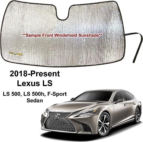 wholesale YelloPro Custom Fit Automotive Reflective Front Windshield Sunshade for 2018 sale 2019 2020 2021 Lexus LS, LS 500 LS500, LS 500h F-Sport, discount Sedan online