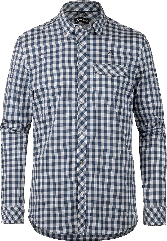 Schffel Herren Shirt Miesbach2 LG, kariertes Hemd mit bequemem 2-Wege-Stretch, atmungsaktives Herren Hemd mit praktischer Brusttasche