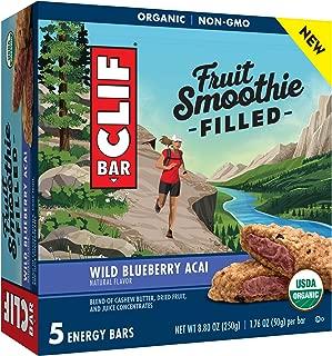 Clif Bar Fruit Smoothie Filled Wild Blueberry Acai Energy Bar (5 Bars)