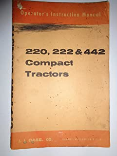 Case 220 222 442 Compact Lawn Garden Tractor Operators Owners Manual original 9-2171
