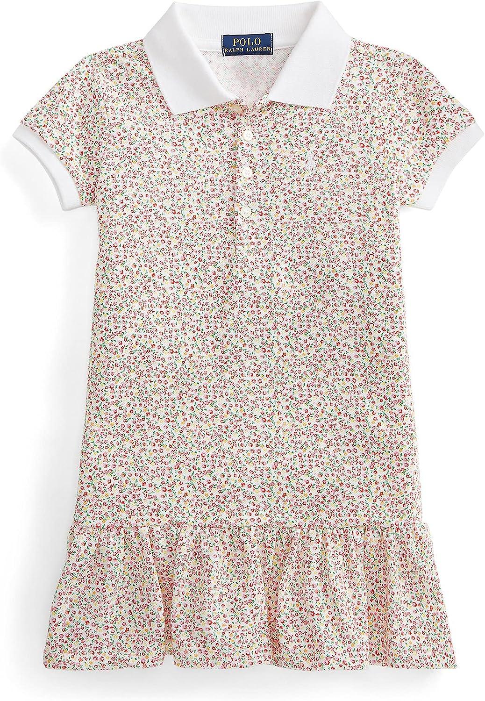 Polo Ralph Lauren Little Girls Floral Stretch Mesh Polo Dress