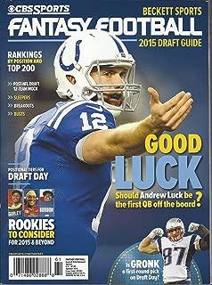 CBS SPORTS FANTASY FOOTBALL DRAFT GUIDE 2015 [Single Issue Magazine]