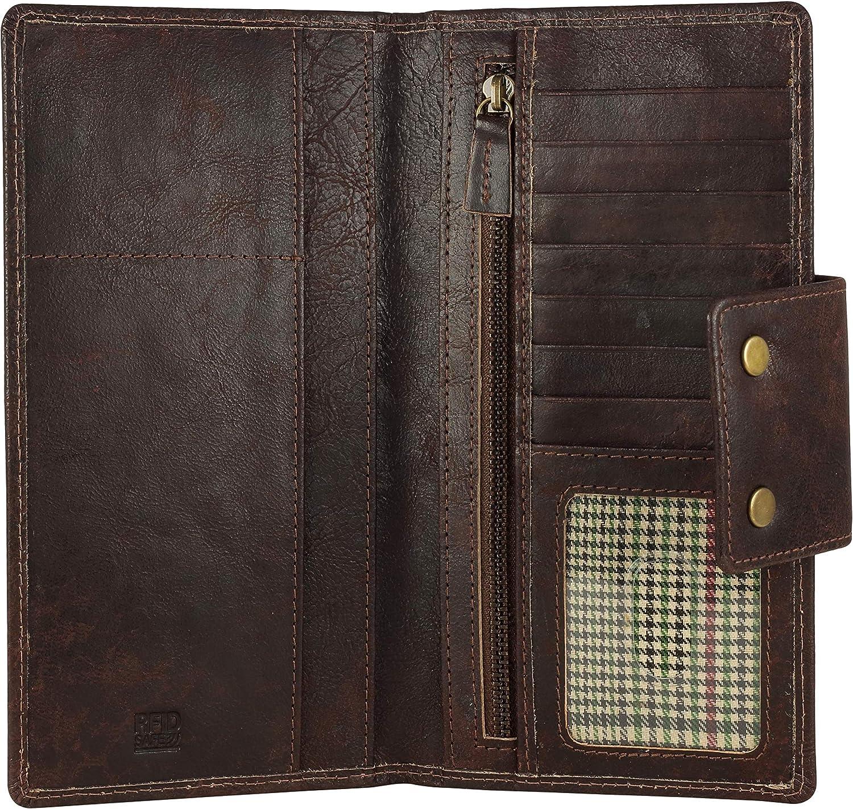 Genuine Leather RFID Bargain Blocking Long Bifold Wallet – Vintage Fashion
