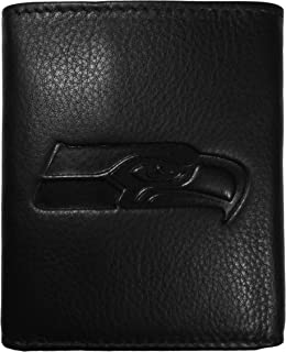 Siskiyou Sports Embossed Leather Tri-fold Wallet