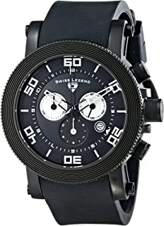 Swiss Legend Men's 30465-BB-01-WA Cyclone Analog Display Swiss Quartz Black Watch