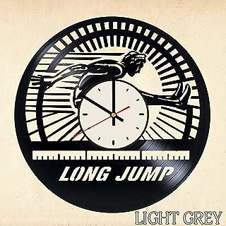Long jump Olympic Games Vinyl Wall Clock Living Room Home Decor