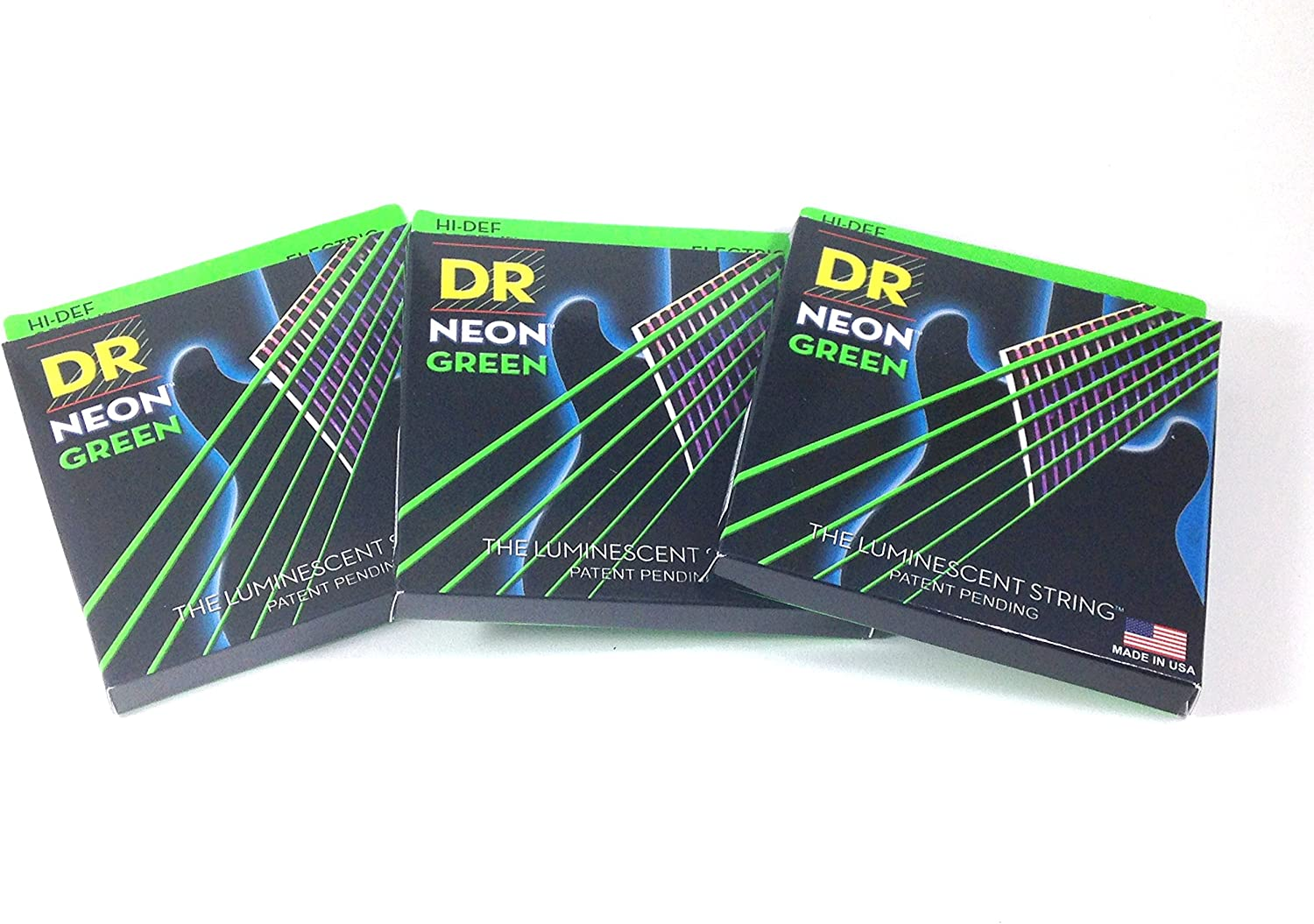 DR Guitar Strings 3 Pack 11-50 Heavy Neon Ranking TOP20 lowest price Green Electric