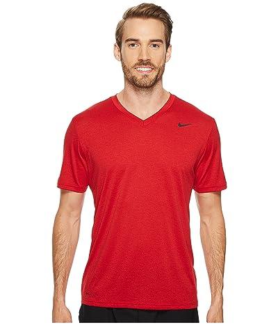 Nike Legend 2.0 Short Sleeve V-Neck Tee (Gym Red/Black/Black) Men