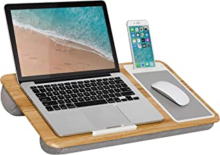 LapGear Home Office Lap Desk with Device Ledge, Mouse Pad, and Phone Holder – Oak..