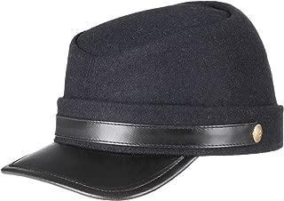 US Civil War Union Army Leather Peak Kepi