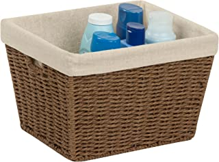Honey-Can-Do STO-03565 Parchment Cord Basket with Handles and Liner, Brown, 10 x 12 x 8 inches