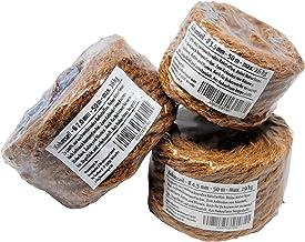 Humusziegel - Juego de cuerda de coco hecha de fibra de coco para hobby y jardín 3 rollos cada 50 m