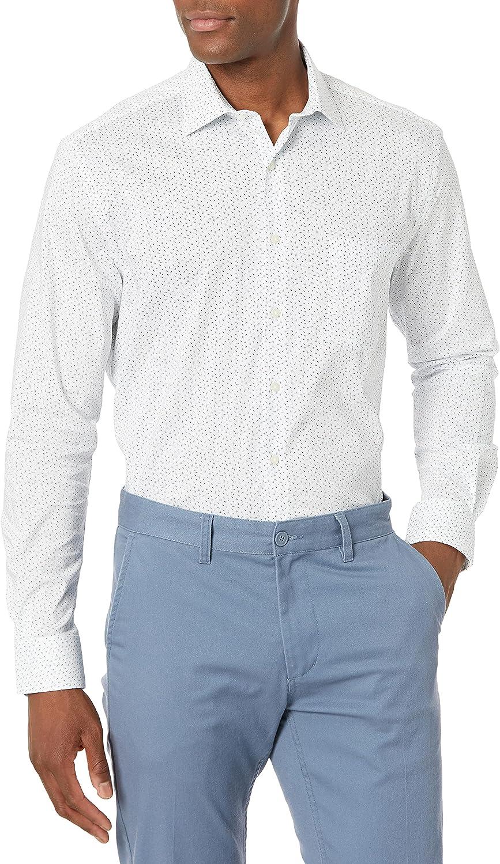 Van Heusen Men's Dress Shirt Regular Fit Flex Collar Stretch Print