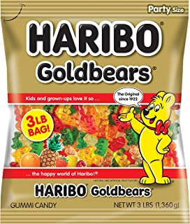 Haribo Gummi Candy, Goldbears Gummy Candy, 48 Ounce (Pack of 4)