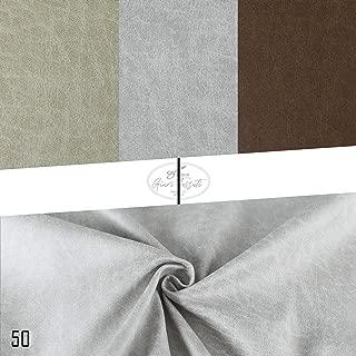 Generico Skin - Tela Impermeable y Antimanchas por Metro - Efecto Piel Vintage - para decoración y tapicería - Altura 140 cm - 1 Cantidad = 50 cm