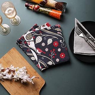 Scandinavian flower Printed Kitchen Towels, Set of 3, 100% Cotton, 20