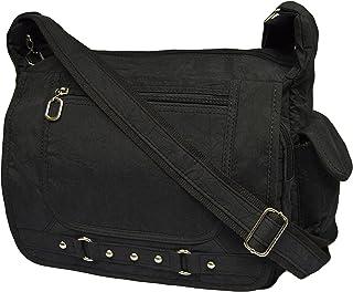 Leichte Sportlische Damen Schultertasche Umhängetasche Handtasche Stofftasche Bag Crossover 545