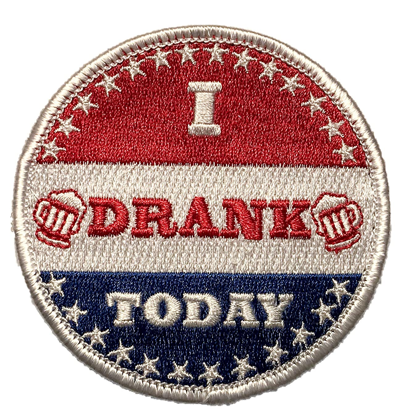 I Drank Today - Embroidered Morale Patch with Hook Backing q9742310302