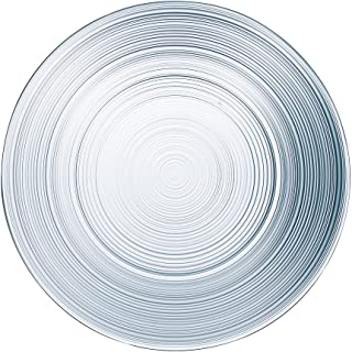 Arc International 116833 Set of 6 Dinner Plates, 10.5 inch, Clear