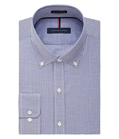 Tommy Hilfiger Non Iron Slim Fit Check Button Down Collar Dress Shirt