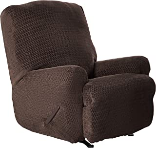 SureFit Stretch Royal Diamond 1-Piece - Recliner Slipcover - Chocolate