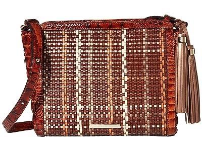 Brahmin Prairie Carrie Crossbody (Pecan) Cross Body Handbags