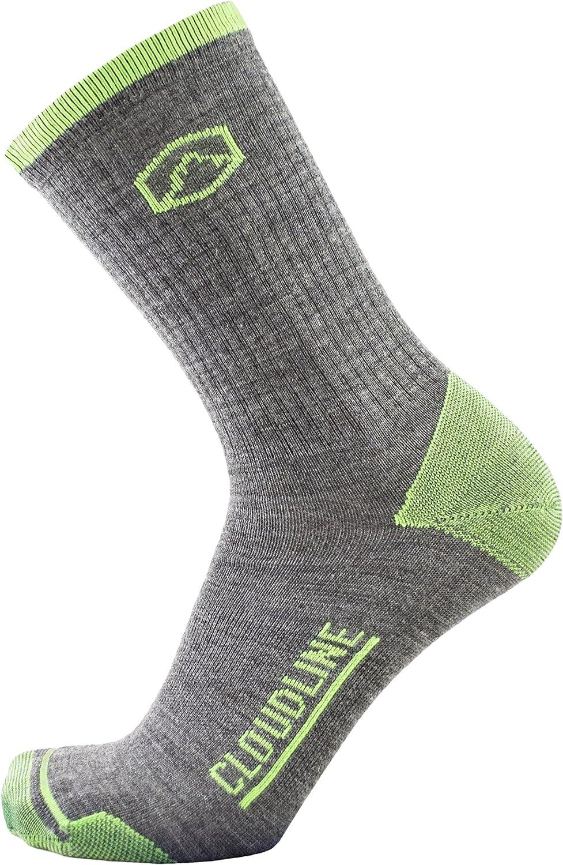 CloudLine Merino Wool Hiking & Athletic Crew Socks  Ultra Light  Made in USA