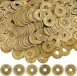 Boao Chinese Feng Shui Coins Good Luck Fortune Coin I-Ching Coins for Health and Wealth (300, 0.8 Inch)