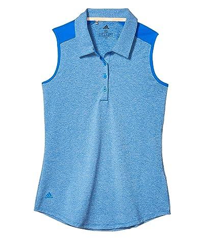 adidas Golf Ultimate365 Sleeveless Polo (Glory Blue Melange) Women