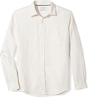 Men's Regular-Fit Long-Sleeve Linen Shirt