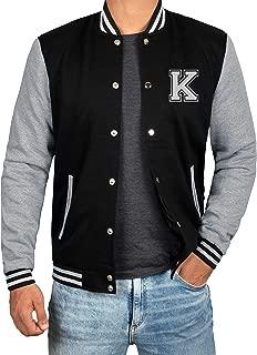 Black and Grey Letterman Jacket Men - High School Baseball Varsity Jacket Mens