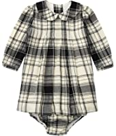 Ralph Lauren Baby - Yarn-Dyed Cotton Gauze Pintuck Dress (Infant)