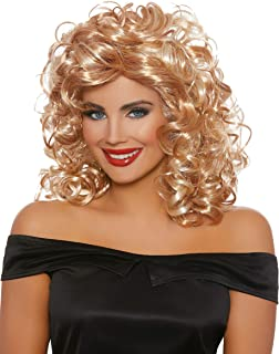 Dreamgirl Women's 50'S Sandy Blonde/Honey Brown Mix Wig, One Size