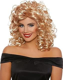 Women's 50'S Sandy Blonde/Honey Brown Mix Wig, One Size