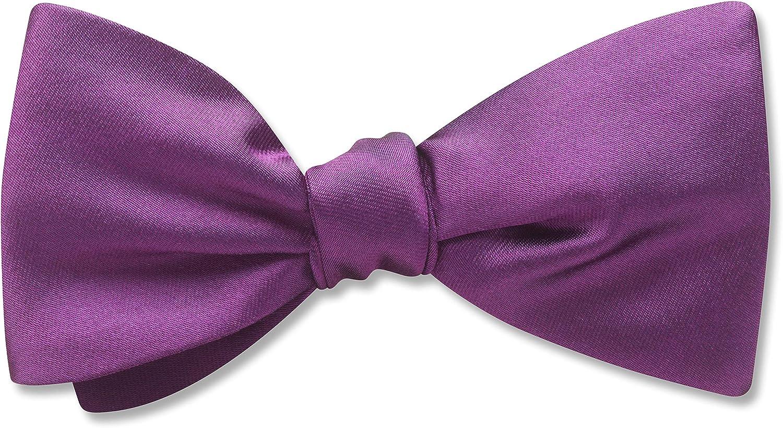 Somerville Plum Purple Solid, Men's Bow Tie, Handmade in the USA