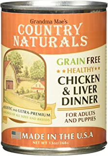 Grandma Mae'S 79700141 12Ea/13 Oz Country Naturals Grain Free Dog Can Chicken/Liver Dinner, One Size