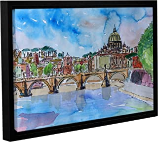 16X24 Marcus//Martina Bleichner Vatican Rome Italy Sunset On River Tiber With St.Peter Removable Wall Art Mural