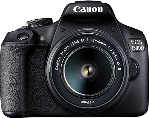 Canon EOS 1500D 24.1 Digital SLR Camera (Black) with EF S18-55 is II Lens, 16GB Card and Carry Case product image