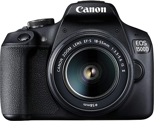 (Renewed) Canon EOS 1500D Digital SLR Camera (Black) with EF S18-55 is II Lens/Camera Case
