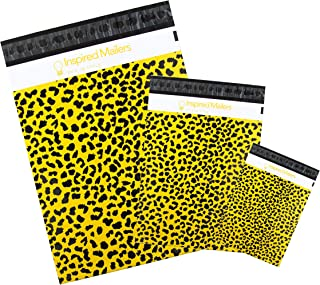 Inspired Mailers - Poly Mailers Variety Pack - Wild Cheetah - 30 (10 Each: 6x9, 10x13, 14.5x19 Sizes) - 3.15mil Unpadded M...