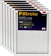 Filtrete 20x24x1, AC Furnace Air Filter, MPR 1500, Healthy Living Ultra Allergen, 6-Pack