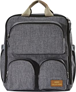 SoHo Diaper Bag Backpack 3PC Essentials - Gray