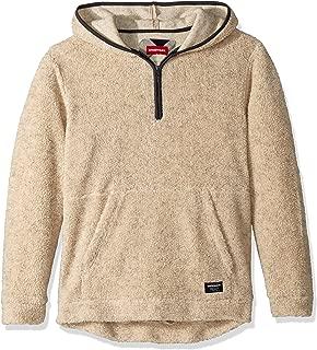UNIONBAY Men's Quarter Zip Popover Teddy Bear Fleece Hoodie