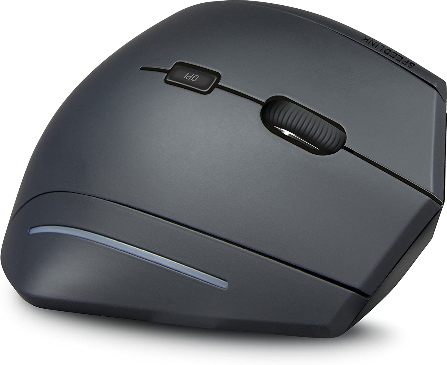 Speedlink Manejo Vertical Wireless USB Mouse - Joint-Friendly and Ergonomic for PC/Notebook/Laptop, Black