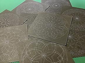 点描曼荼羅の下絵10種類10枚セット マンダラアート 曼荼羅の塗り絵