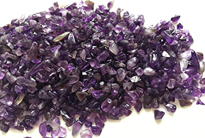 Amethyst Gemstone Chips Smooth Natural Moon Amethyst Gravel Bits Small Tumbled Purple Amethyst Pieces Loose Amethyst Stones
