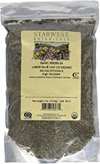 Lemon Balm Leaf Cut & Sifted Organic - Melissa officinalis, 4 Oz