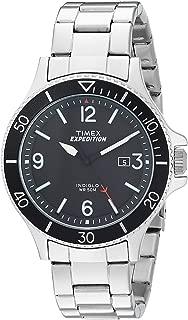 Men's TW4B10900 Expedition Ranger Silver/Black Stainless Steel Bracelet Watch