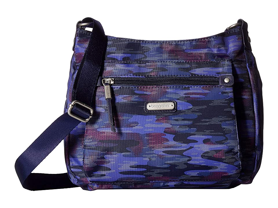Baggallini New Classic Uptown Bagg with RFID Phone Wristlet (Moonlight Camo) Bags